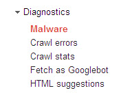 diagnostics - webmaster tools