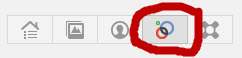 Google Plus circles button