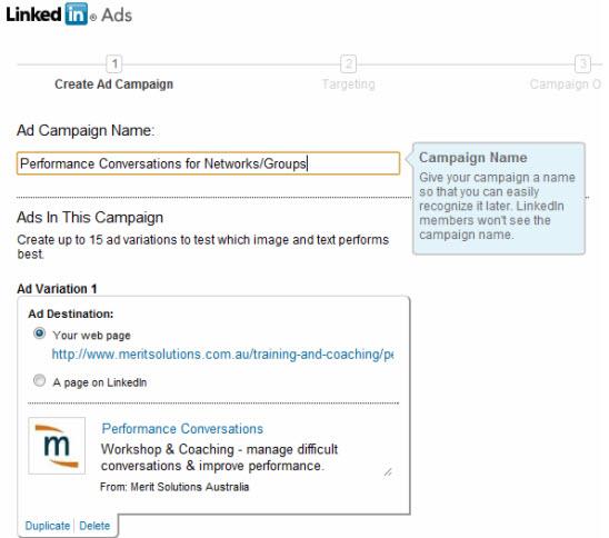 LinkedIn Ads campaign