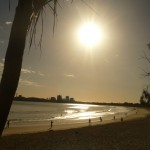 reflection - sunset over Mooloolaba