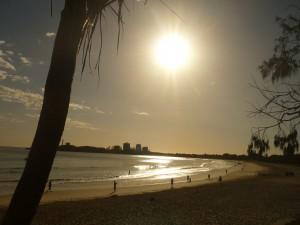 reflection - sunset over Mooloolaba