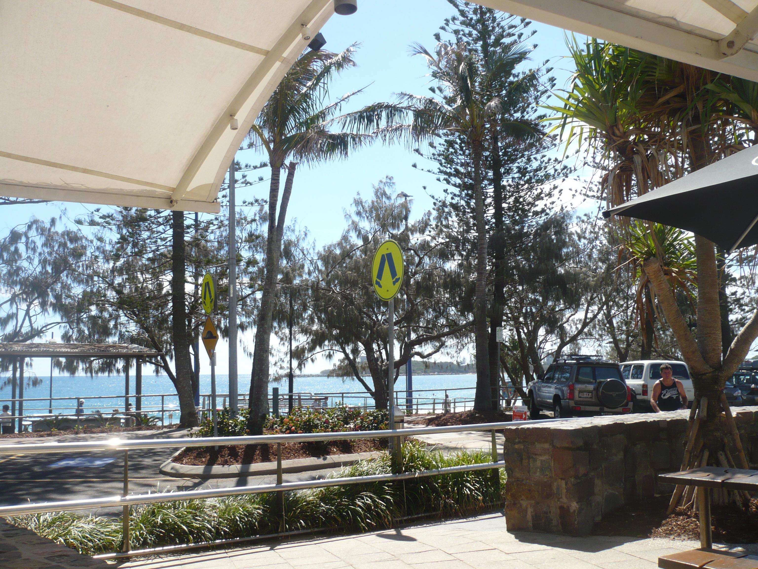Cafe overlooking Mooloolaba Beach