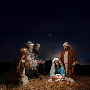 Christmas Nativity with the Wise Men