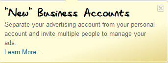 LinkedIn Ads - business accounts