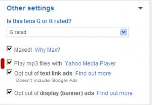 Squidoo - Yahoo Media Player settings