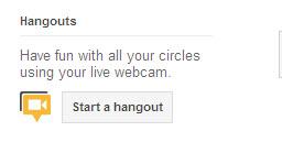 google+ - start hangout