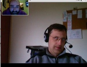 Google Plus Hangout with staff