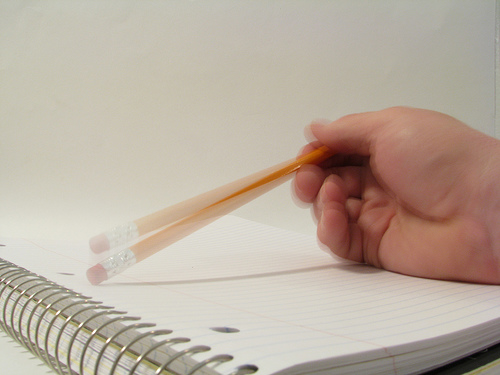 indecision - tapping pencil